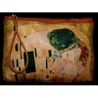 Gustav Klimt Large Clutch Wallet Carry-all - The Kiss