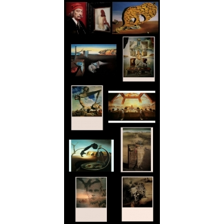 10 Salvador Dali postcards