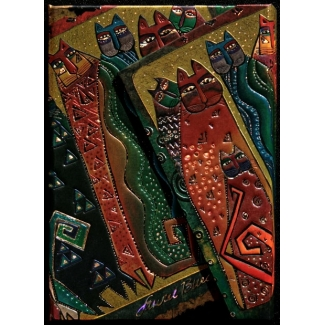 Diario Paperblanks Laurel Burch : Felinos Santa Fe - MINI