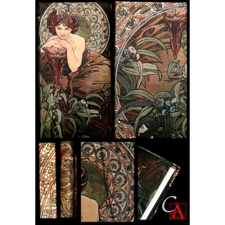 Journal diary Paperblanks - Mucha : Emerald - SLIM