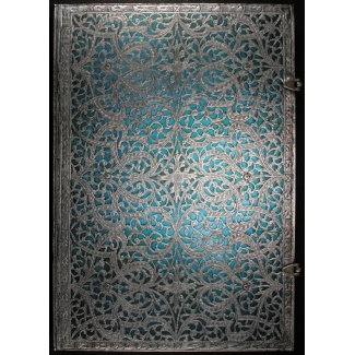Journal diary Paperblanks - Silver Filigree : Maya Blue - GRANDE