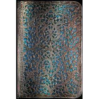 Journal diary Paperblanks - Silver Filigree : Maya Blue - MINI
