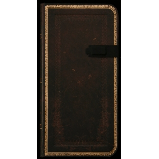 Paperblanks Journal diary - Old Leather Black Moroccan - SLIM