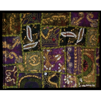 Paperblanks Guest Book - Tribal Embroidery : Sequined Garnet