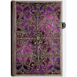 Journal diary Paperblanks - Silver Filigree Collection : Aubergine - MINI