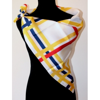 Foulard Piet Mondrian : New York City (spiegato)