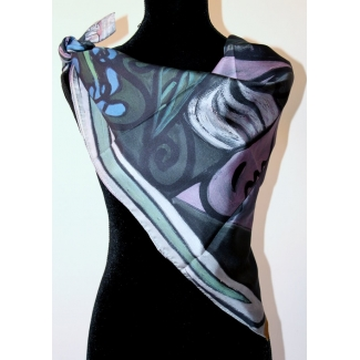 Picasso Scarf - Nude with a bouquet of irises and a mirror
