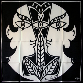 Jean Cocteau Square scarf - Le théâtre antique (unfolded)