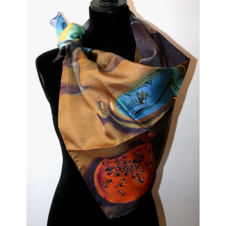 Dali Scarf - Persistence of Memory (unfolded)