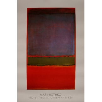 Mark Rothko poster - n°6 (Violet green and red) 1951