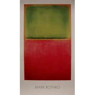 Mark Rothko poster - Green red on orange