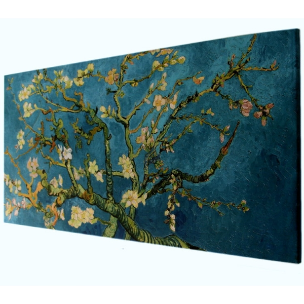 reproduction sur toile vincent van gogh branche d 39 amandier en fleur 1890 100 x 50 cm. Black Bedroom Furniture Sets. Home Design Ideas