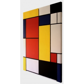Reproduction sur toile Mondrian - Composition 2