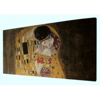 Klimt print on canvas - The kiss