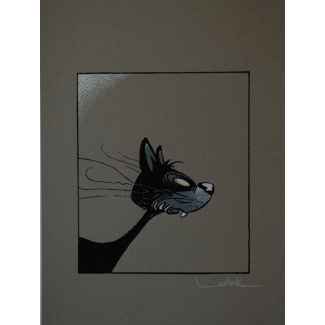 Regis Loisel signed serigraph - The cat