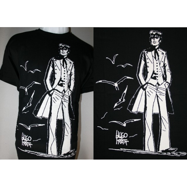 t shirt corto maltese hugo pratt 40 ans. Black Bedroom Furniture Sets. Home Design Ideas