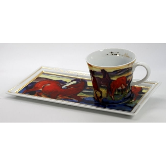 Franz Marc coffee set : Red Horses