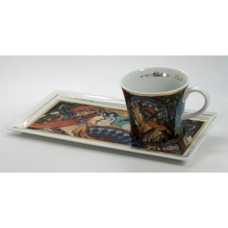 Alfons Mucha coffee set : Zodiac
