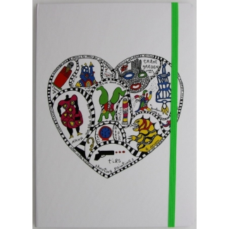 Niki De Saint Phalle Notebook - Heart