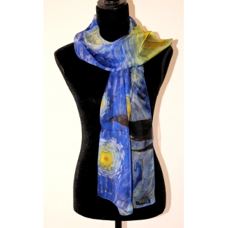 Van Gogh Scarf - Starry night
