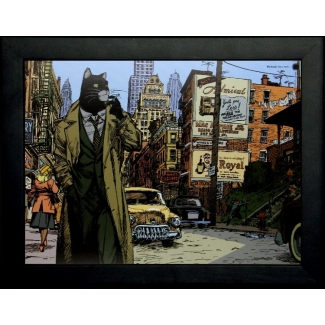 Affiche encadrée Guarnido : Blacksad New York