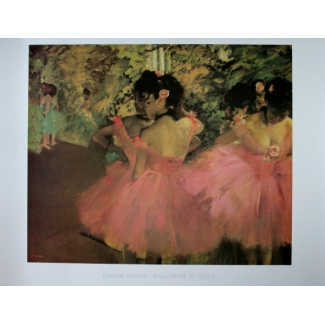 Edgar Degas Art Print - Ballerinas in Pink