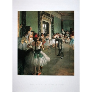 Edgar Degas Art Print - The Dance Class