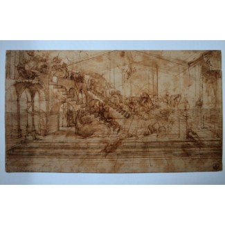 Leonardo Da Vinci Art Print - Perspective Study For the Background of the Adoration of the Magi