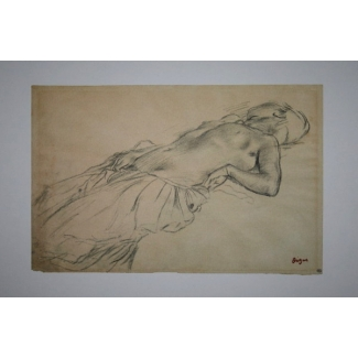 Edgar Degas Art Print - Lying nude