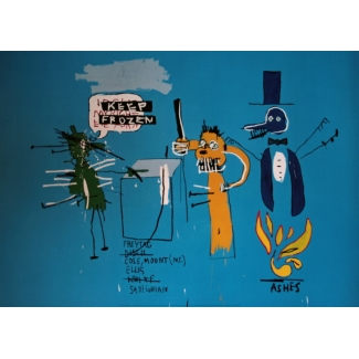 Affiche Jean-Michel Basquiat - The dingoes that park ...