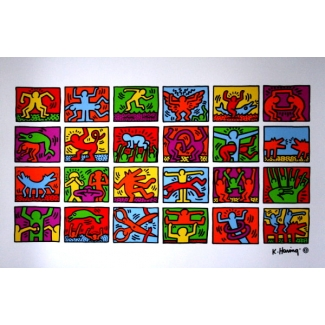 Affiche Keith Haring - Retrospect 1989