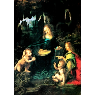 Leonardo Da Vinci Art Print - The Virgin of the Rocks