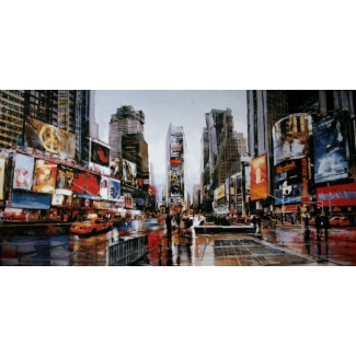 Stampa Matthew Daniels - Evening in Times Square
