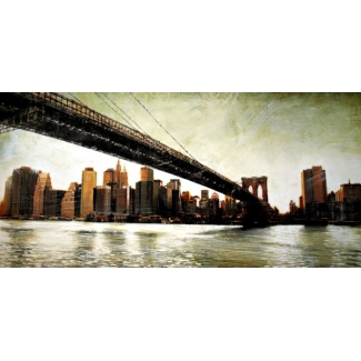 Affiche Matthew Daniels - Brooklyn Bridge View