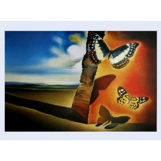 Salvador Dali Art Print - Landscape with Butterflies
