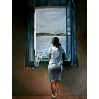 Salvador Dali Art Print - Woman at the window