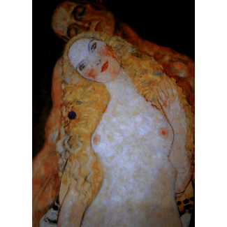 Gustav Klimt Art Print - Adam and Eve