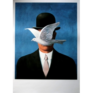 René Magritte Art Print - The Man in the Bowler Hat