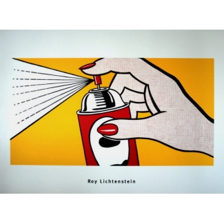Affiche Roy Lichtenstein - Spray