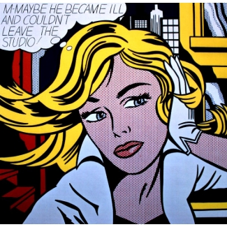Affiche Roy Lichtenstein - M-Maybe