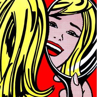 Lámina Roy Lichtenstein - Girl in Mirror
