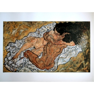 Egon Schiele Art Print - The embrace