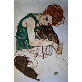 Egon Schiele Art Print - Edith the artist's wife