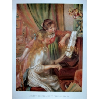 Auguste Renoir Art Print - Young Girls at the Piano