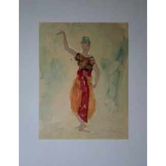 Affiche Rodin - Danseuses cambodgiennes V