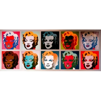 Affiche Andy Warhol - 10 Marilyns