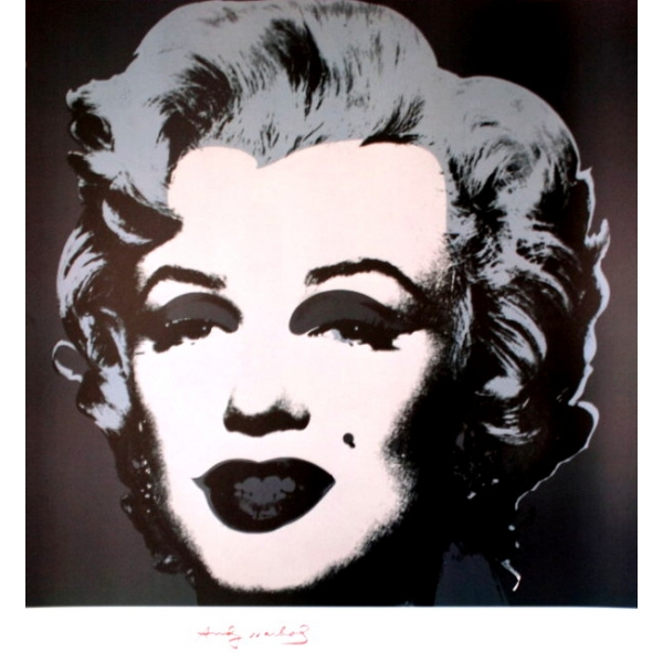 affiche andy warhol marilyn monroe black 1967 65 x. Black Bedroom Furniture Sets. Home Design Ideas