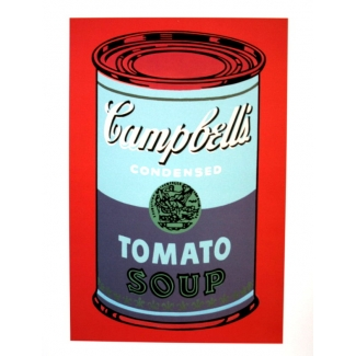 Andy Warhol Art Print - Campbell's Soup Can (blue & purple)