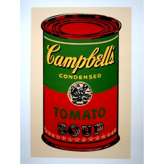 Affiche Andy Warhol - Soupe Campbell (vert et rouge)
