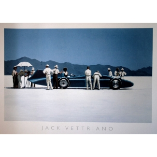 Jack Vettriano Art Print - Bluebird at bonneville